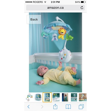 Fisher price precious planet 2 in 1 projector mobile