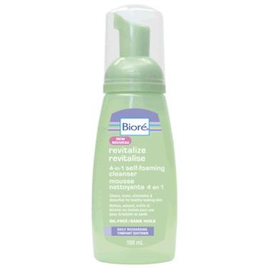 Biore REVITALIZE 4-in-1 Self-Foaming Cleanser