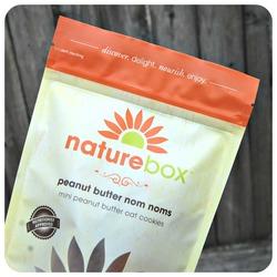 Nature Box peanut butter nom noms