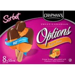 Chapman's Options Tiger Paw Sorbet Bar