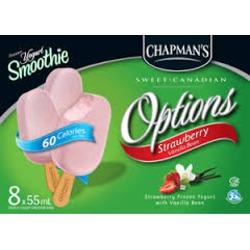 Chapman's Options Strawberry Vanilla Bean Yogurt Bar