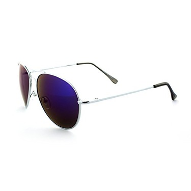 Vintage Retro Racer Inspired Aviator Sunglasses Tri-Layer UV400 Unisex