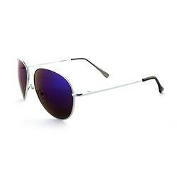 Vintage Retro Racer Inspired Aviator Sunglasses Tri-Layer UV400 Unisex