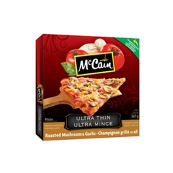 McCain Ultra Thin Roasted Mushroom and Garlic Pizza