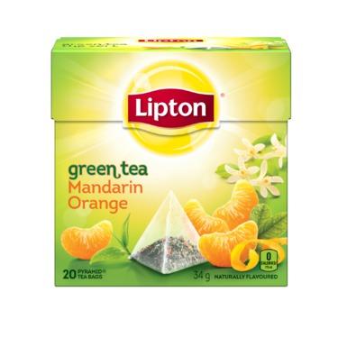 Lipton Green Tea Mandarin Orange Pyramid Tea Bags