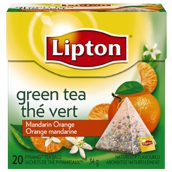 Lipton Green Tea Mandarin Orange Pyramid Tea Bags