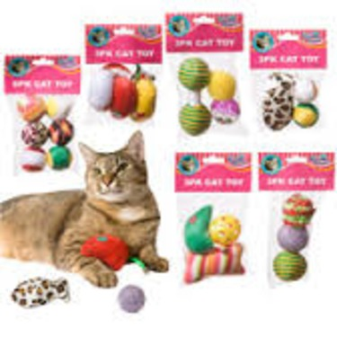 Dollar Store Cat Toys