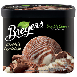 Breyer's Double Churn Chocolate Cheesecake Frozen Dessert