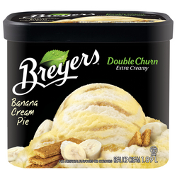 Breyer's Double Churn Banana Cream Pie Frozen Dessert