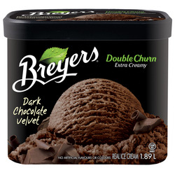 Breyers Double Churn Dark Chocolate Velvet Ice Cream