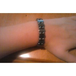 Hematite Stretch Bracelet or Anklet - Strong Magnetic Naturally Reduces Pain Rheumatoid Arthritis in the Hands, Wrist, Arms, and Shoulders (8 Inches)