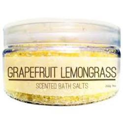 Silk Crate Grapefruit Lemongrass Scented Bath Salts