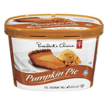 President's Choice Pumpkin Pie Ice Cream