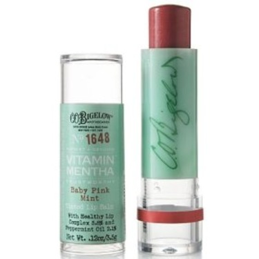 C.O. Bigelow Vitamin Mentha Tinted Lip Balm in Baby Pink