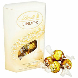 Lindt Lindor Milk and White Milk Chocolate Truffles
