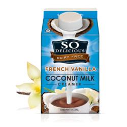 So Delicious Dairy Free French Vanilla Coconut Milk for Coffee