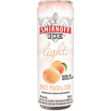 Smirnoff Ice Light White Peach and Soda