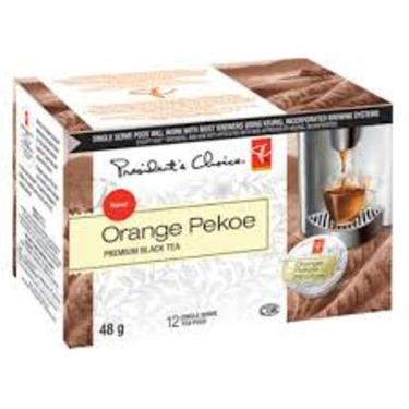Presidents Choice Orange Pekoe Single Serve Tea Pods