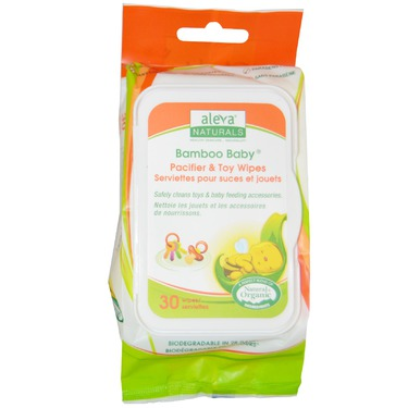 Aleva Naturals Bamboo Baby Pacifier Wipes