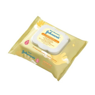 Johnsons hand & face wipes