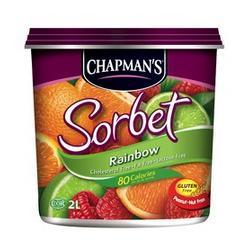 Chapman's Rainbow Sorbet