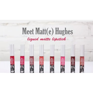 Meet Matt(e) Hughes Liquid Lipstick by theBalm