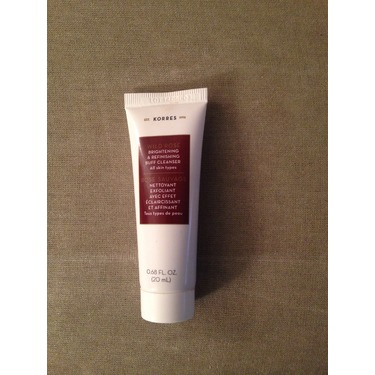 Korres Wild Rose Brightening and Refinishing Buff cleanser
