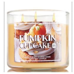 Pumpkin cupcake 3 wicks candle