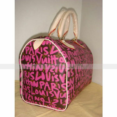 Louis Vuitton Stephen Sprouse Speedy 30 Graffiti Pink Bag