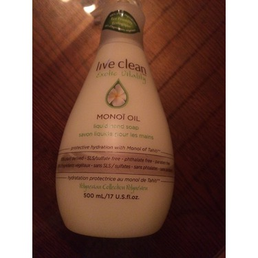 Live Clean Monoi oil hand soap