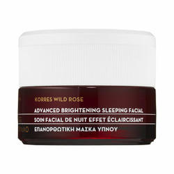 Korres wild rose advanced brightening sleeping facial