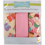 "Babyville Waterproof Diaper Fabric 21""x24"" Cuts 3/Pkg-PUL Sweet Stuff Butterflies & Cupcakes"