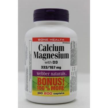 Webber Naturals Calcium Magnesium with D3