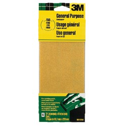 3M 9015 General Purpose Sandpaper Sheets, 3-2/3-Inch by 9-Inch, Fine Grit