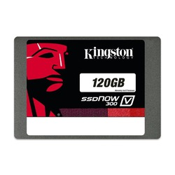 Kingston Digital 120GB SSDNow V300 SATA 3 2.5 7mm height with Adapter Solid State Drive 2.5-Inch SV300S37A/120G