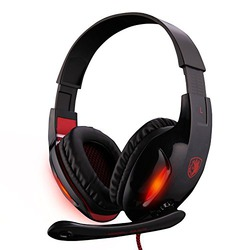 SADES SA808 Gaming Headset Headphone with Microphone Stereo Bass Noise Canceling Isolating By Afunta