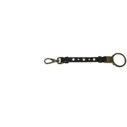 Miu Miu Designer Accessories Key Ring Black Leather