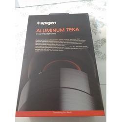 Aluminum Earphones, Spigen Aluminum Earbuds with Remote for Apple