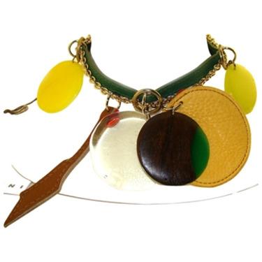 Marni Designer Jewelry Choker Necklace Designer Accessory Big Charms