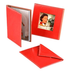 Kate Spade Designer Accessories Coral Leather Photo Frame