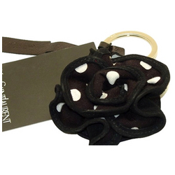 Yves Saint Laurent Designer Accessories Polka Dot Flower Designer Key Ring