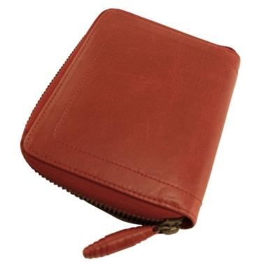 Trina Turk Designer Wallet Red Leather Crane Zip Around Credit Card And Billfold Designer Wallets