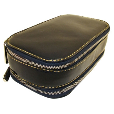 Bally Designer Accessories Cobalt Blue Leather Travel Cosmetic Case Designer Accessories