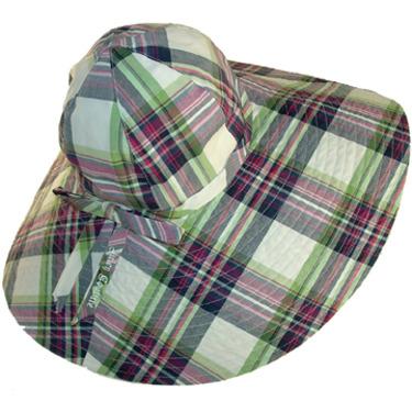 Juicy Couture Designer Hats Green Plaid Sun Bonnet With Bow 300 Designer Cap