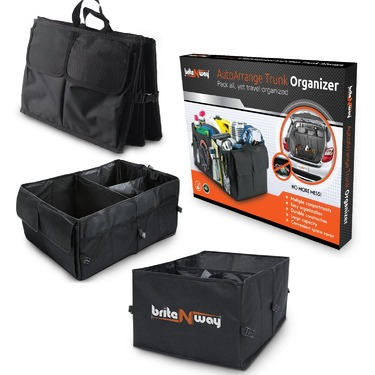 BriteNway AutoArrange Collapsible or Folding Car Trunk Organizer