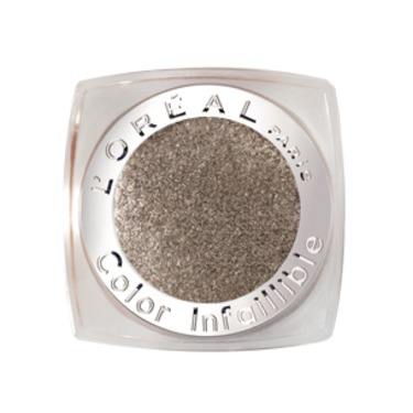 L'Oreal Infallible Eyeshadow in Flash Back Silver
