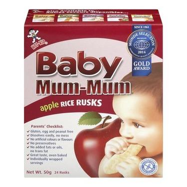 Mum-Mum Apple Rice Rusks