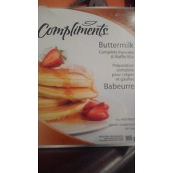 Our compliments Buttermilk pancake and Waffle mix