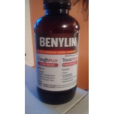 BENYLIN Regular Strength Cough Plus Cold Relief Syrup