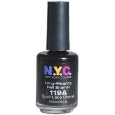 NYC long-wearing nail enamel (black)